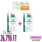 Brit Care Hypoallergenic Száraztáp Senior All Breed Lamb&Rice 2x12kg DUPLA CSOMAG Bárányos Rizses Hypoallergén
