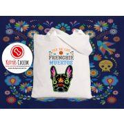 Bulldogos vászontáska Frenchie Muertos mintával BulldogArt Kollekció