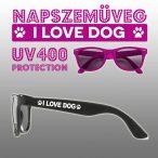 Napszemüveg - I Love Dog Wayfarer Style Kutyás mintával UV400 védelemmel