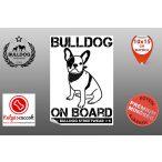 Autós Francia Bulldog Matrica - Bulldog Streetwear Francia Bulldog Minta1  20x15cm