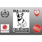 Autós Francia Bulldog Matrica - Bulldog Streetwear Francia Bulldog Minta1  Több méretben