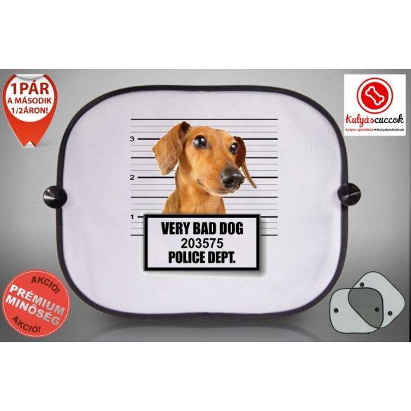 Tacskós Autós Napellenző Napvédő - Tacskó Very Bad Dog mintával