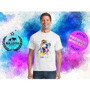 Bulldogos Férfi Póló - Bulldog Streetwear BulldogArt Angol bulldog mintával