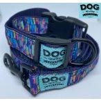 Dog Walking Apparel színes csíkok nyakörv és póráz szett