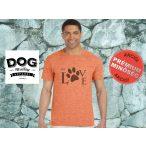Dog Walking Férfi Póló - My Love mintával  Minden méretben és több színben