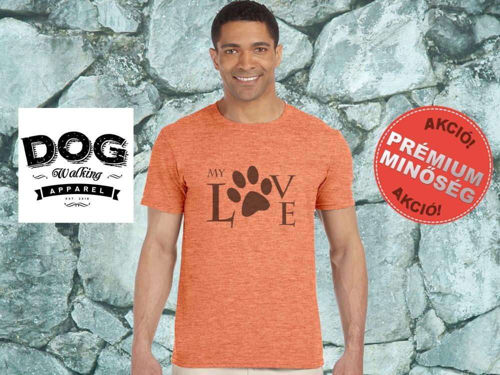 Dog Walking Férfi Póló - My Love mintával Minden méretben és több színben acf262edd8