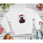 Bulldogos Karácsonyi Férfi Pulcsi - French Bulldog Bad Santa Frenchie mintával