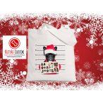 Bulldogos Karácsonyi vászontáska  Santa Gift