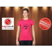 Boxer Női Póló - Gut, Besser, Boxer  mintával Szín: Pink