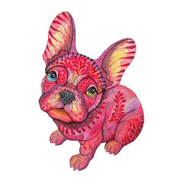 Konyhai Kötény Bulldogos - Bulldog Art piros rajzolt bulldog