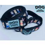 Dog Walking Apparel Bulldog szemüveges bulldog nyakörv