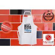 Konyhai Kötény Bulldogos - Bulldog Streetwear My Bulldog Makes Me Happy Francia bulldoggal