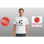 Bulldogos Férfi Póló - Bulldog Streetwear I Love Bulldogs angol mintával