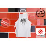 Konyhai Kötény Bulldogos - Bulldog Art fekete rajzolt bulldog