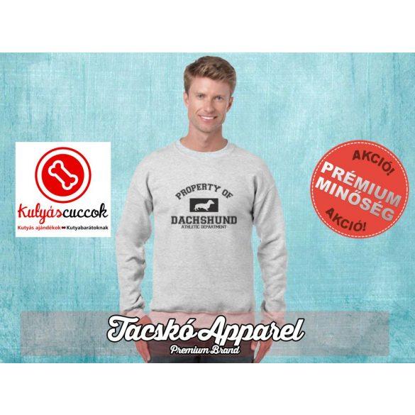 Tacskós Férfi környakas pulóver - Tacskó Property of dachshund mintával Több színben