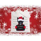 Bulldogos Karácsonyi vászontáska Bad Santa