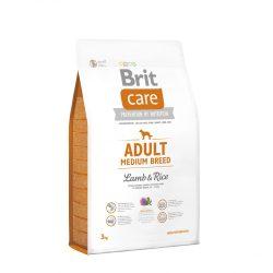 Brit Care Hypoallergenic Száraztáp Adult Medium Breed Lamb&Rice 3kg Bárányos Rizses Hypoallergén
