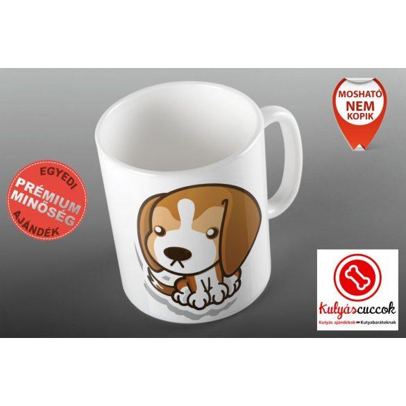 Bögre - Beagle Cartoon grafikával