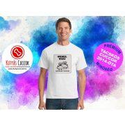 Tacskós Férfi Póló - Tacsi Dachshund Comic Trooper Tacskós Cuccok White Collection mintával