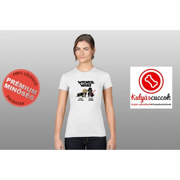 Tacskós Női Póló - Tacskó Wiener Wars mintával
