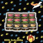 """PettBullDog® Test The Best Taste """"Small"""" 3 ízű KÓSTOLÓ csomag SzuperKutyáknak (3 íz X 4 db) 200g (4 db. Vaddisznó, 4 db. Nyúl, 4 db. Hypoallergén-Bárány, barna rizzsel)"""
