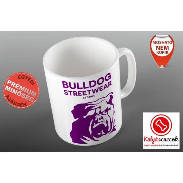 Bulldogos Bögre - Bulldog Streetwear Est.2014. lila grafikával