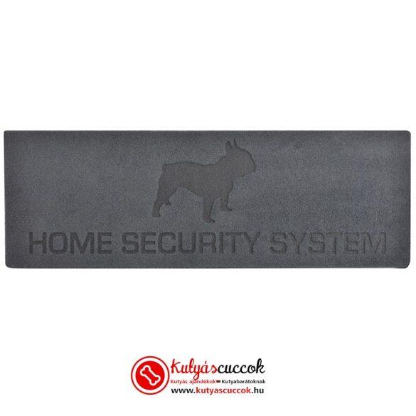 Bulldogos Lábtörlő - Home Security System Francia Bulldog, Lábtörlő Franciabulldog
