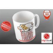 Bulldogos Bögre - Bulldog Streetwear Bulldog Forever rózsaszín grafikával