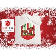 Tacsis Karácsonyi vászontáska  Dachshund  Merry Christmas