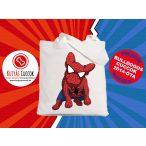 Bulldogos vászontáska Comic Kollekció Spider Frenchie mintával