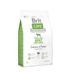 Brit Care Hypoallergenic  Adult Large Breed 3kg Gabonamentes Száraztáp Grain Free Salmon&Potato
