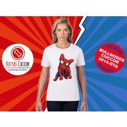 Bulldogos Női Póló - Bulldog Streetwear Comic Kollekció Spider Frenchie mintával