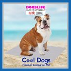 Dogs Life Cool Dogs Hűsítő zselés matrac 100x65 cm-es Szürke (hűsítő matrac/hűtőmatrac/hűtőtakaró/hűtőpléd)