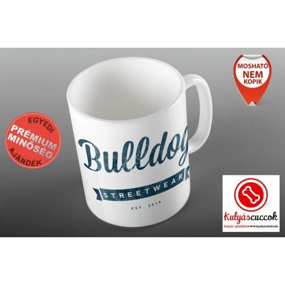 Bulldogos Bögre - Bulldog Streetwear Vintage Logó grafikával