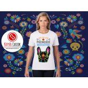 Bulldogos Női Póló - Bulldog Streetwear Frenchie Muertos Bulldog mintával BulldogArt