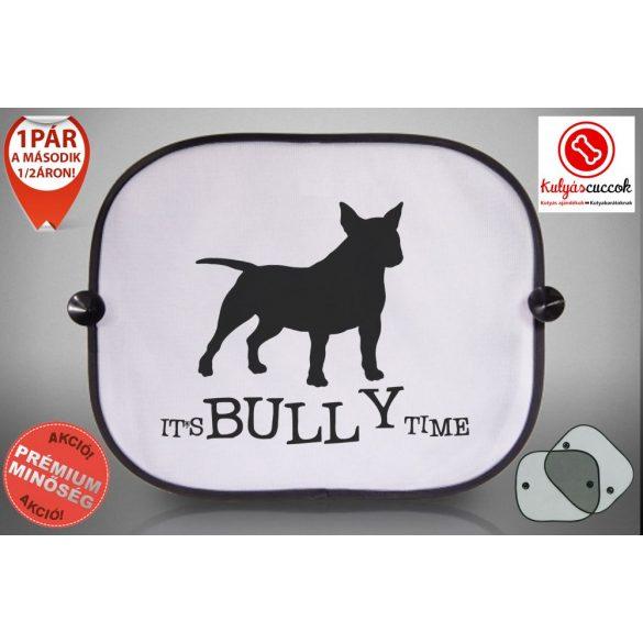Bullterrieres Autós Napellenző Napvédő - Bullterrier It's Bully Time mintával