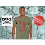 Dog Walking Férfi Póló - Real Men Love Dogs mintával  Minden méretben és több színben