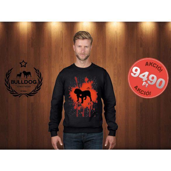 Bulldog Streetwear Férfi pulóver - Fekete  - Bulldog Splash bulldog mintával