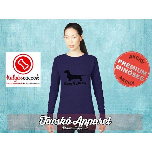 Tacskós Női pulóver - Tacskó Long Vehicle mintával Több színben