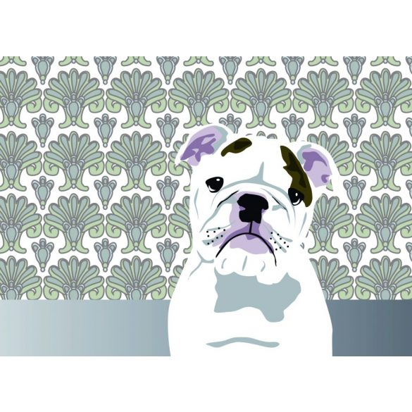Bulldogos Bögre - Bulldog mintás hátteres grafikával