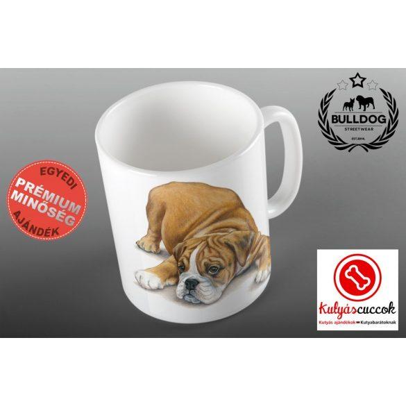 Bulldogos Bögre - Színes bulldog grafikával