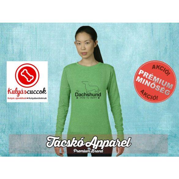 Tacskós Női pulóver - Tacskó My Dachshund Stole My Heart mintával Több színben
