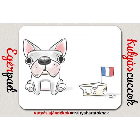 Bulldogos Egérpad - Bulldog Francia Bulldog rajz
