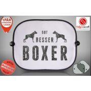 Boxeres Autós Napellenző Napvédő - Gut, Besser, Boxer mintával