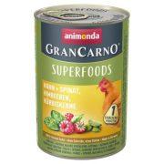Animonda GranCarno Adult Superfoods Csirke + spenót, málna, tökmag  400g