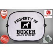 Boxeres Autós Napellenző Napvédő - Property Of Boxer mintával