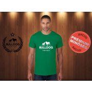 Bulldog Streetwear Férfi Póló - Klasszikus Logó mintával Szín: Zöld