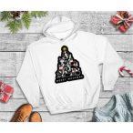 Kutyás Karácsonyi Férfi Pulcsi - Merry Christmas Merry Woofmas fekete mintával