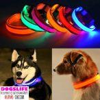 Dogs Life Lightning Collar Világító Nyakörv M méret 32-45cm Villogó Nyakörv állítható több színben RAKTÁRRÓL!