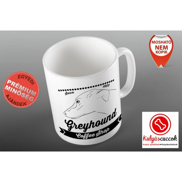 Agaras Bögre - Greyhound Coffee Shop grafikával